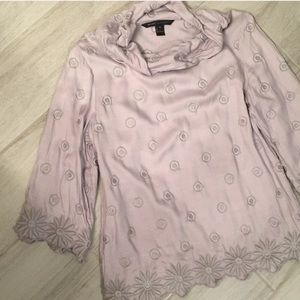 Marc Jacobs Embroidered Flower Circle Cowl Top